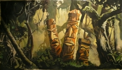 Peinture fond de scène de Junge Fever par Sylvain Fornaro