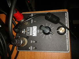 Préampli basé sur transfo OEP et ampli-op J99. Jensen style...