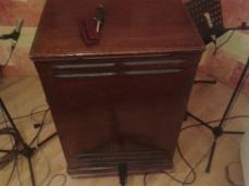 La leslie du studio, et sa paire de Royer R121.